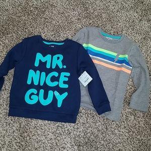 Set of 2 Boy Toddler Long Sleeve Shirts